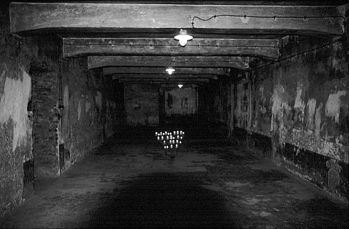 auschwitz I gas chamber bw