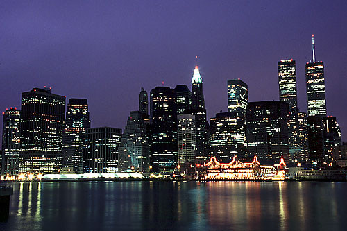 Photos New York City at Night Financial District